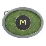 Mezcla floral verde hebilla cinturon