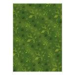 Mezcla floral verde invitacion personalizada