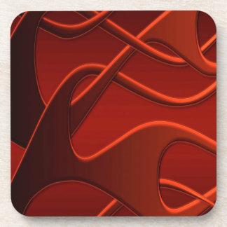 Mezcla fresca abstracta del fuego posavaso