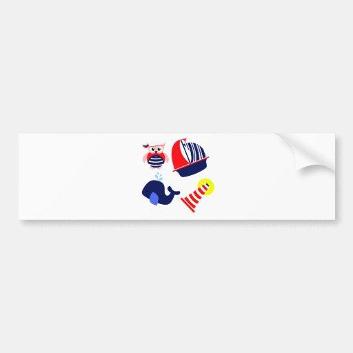 Mezcla náutica etiqueta de parachoque