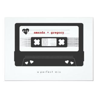 """Mezcla perfecta - reserva de la cinta de la mezcla invitación 5"""" x 7"""""""
