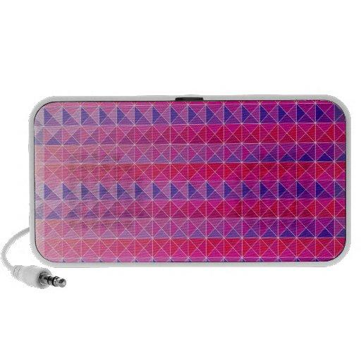 Mezcla púrpura rosada notebook altavoz