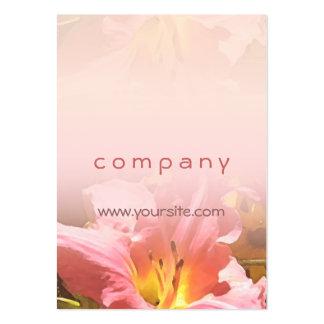 Mezcla rosada del lirio tarjetas de visita grandes