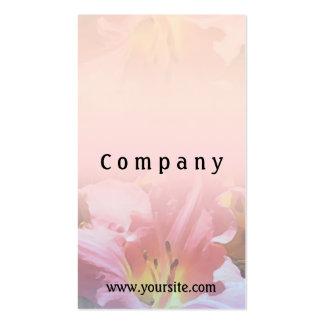Mezcla rosada del lirio tarjetas de visita