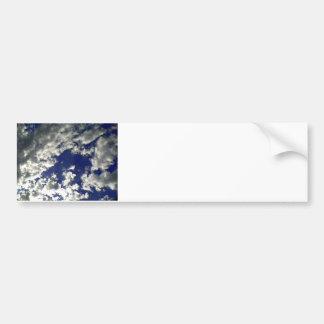 Mezcla soleada de las nubes pegatina de parachoque