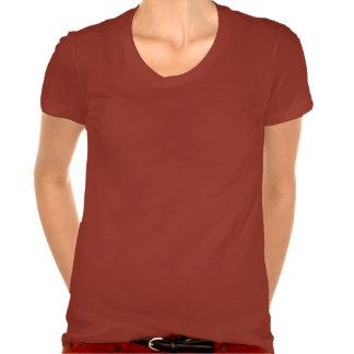 Mezcla T del Polivinílico-Algodón de las señoras Camiseta