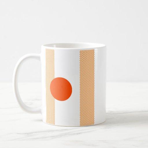 Mezcla y partido anaranjados taza