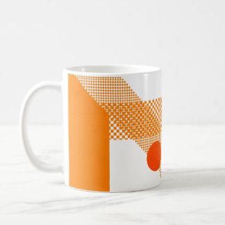 Mezcla y partido anaranjados taza básica blanca
