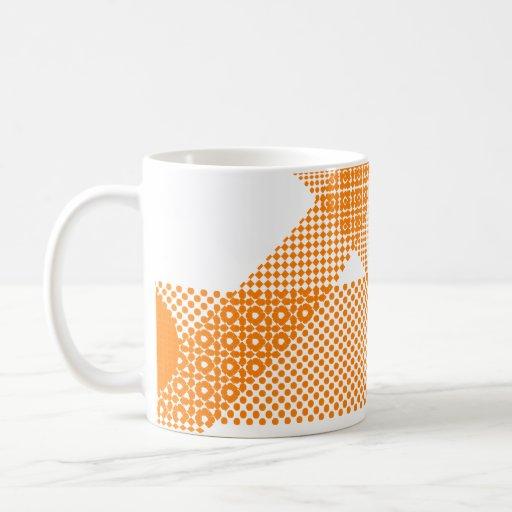 Mezcla y partido anaranjados taza de café