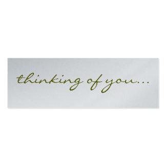 Mezcla y partido de la etiqueta del regalo tarjetas de visita mini