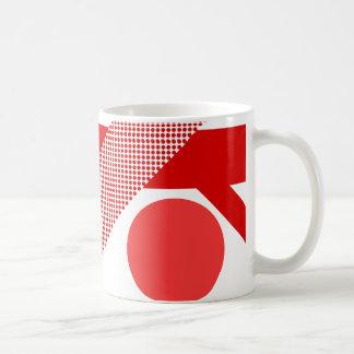 Mezcla y partido rojos taza básica blanca