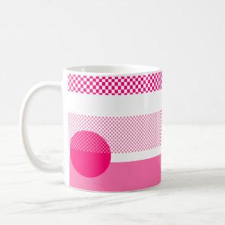 Mezcla y partido rosados taza básica blanca