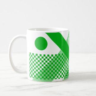 Mezcla y partido verdes taza básica blanca