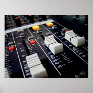 mezclador audio póster