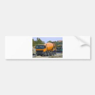mezclador concreto etiqueta de parachoque