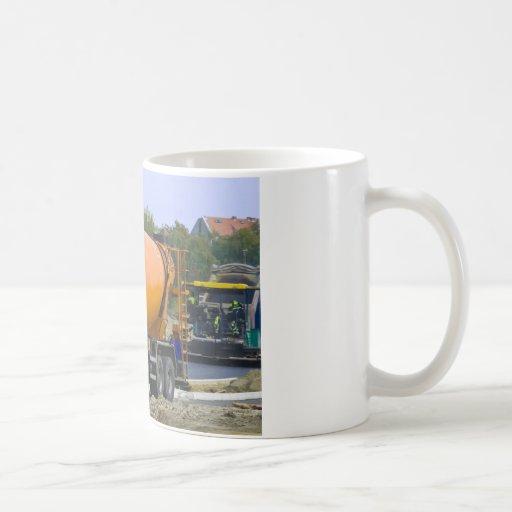 mezclador concreto tazas de café