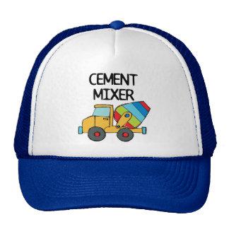 Mezclador de cemento colorido gorras de camionero