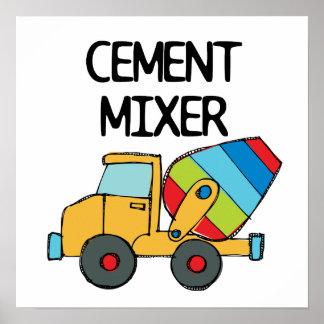 Mezclador de cemento colorido poster