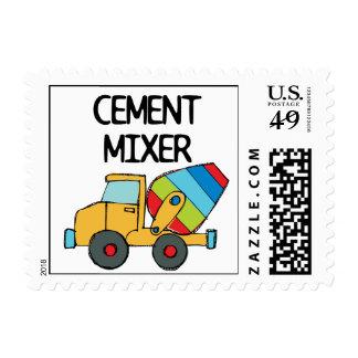 Mezclador de cemento colorido sello postal