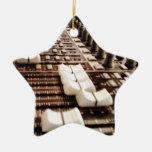 Mezclador del estudio adorno de cerámica en forma de estrella