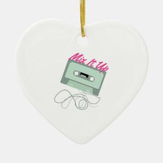 Mézclelo para arriba adorno de cerámica en forma de corazón