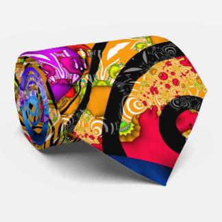 Mezcolanza colorida del fractal corbata personalizada