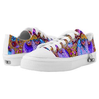 Mezcolanza colorida del fractal zapatillas