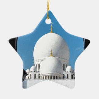 Mezquita 2 de jeque Zayed Adorno Navideño De Cerámica En Forma De Estrella