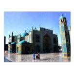 mezquita azul afghani tarjetas postales