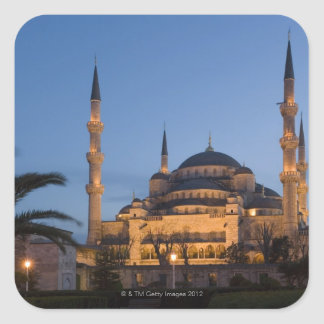 Mezquita azul, área de Sultanhamet, Estambul, Pegatina Cuadrada