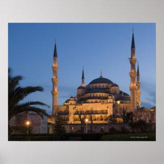 Mezquita azul, área de Sultanhamet, Estambul, Turq Posters