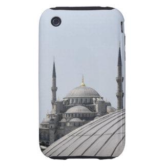 Mezquita azul con la curva de la bóveda principal iPhone 3 tough fundas