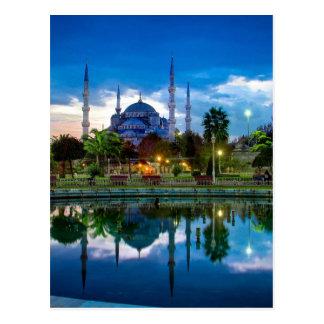 Mezquita azul de Estambul en Turquía Postal