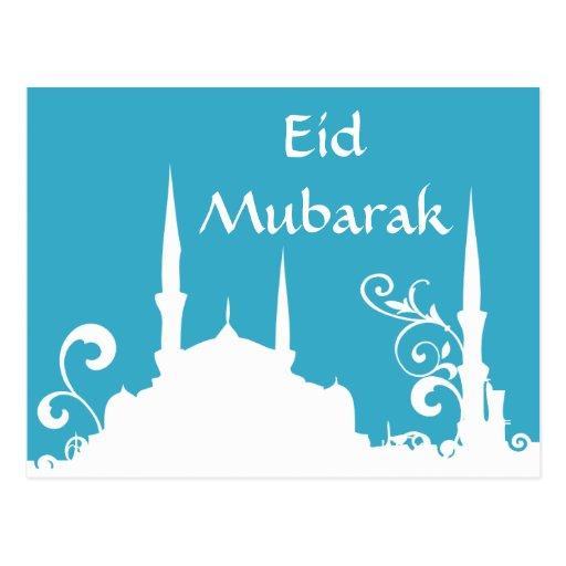 Mezquita azul el Ramadán del Postales
