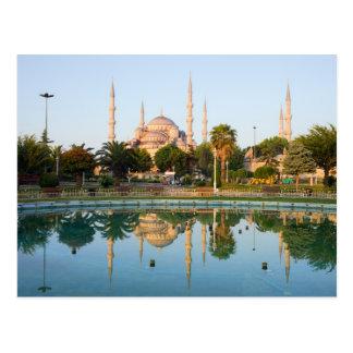 Mezquita azul en el amanecer tarjetas postales