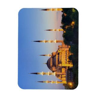 Mezquita azul en el imán crepuscular