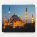 Mezquita azul en Mousepad crepuscular Tapete De Ratones