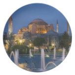 Mezquita azul, Estambul, Turquía Platos De Comidas