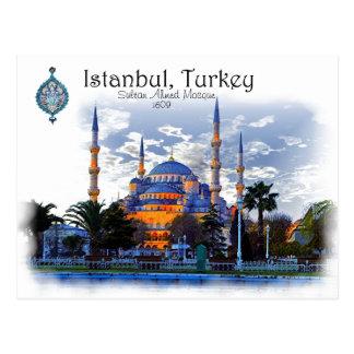 Mezquita azul Estambul, Turquía Tarjeta Postal