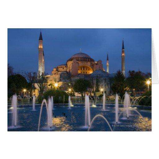 Mezquita azul, Estambul, Turquía Tarjetón
