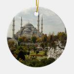 Mezquita azul ornamentos de navidad