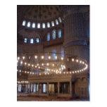 Mezquita azul tarjeta postal