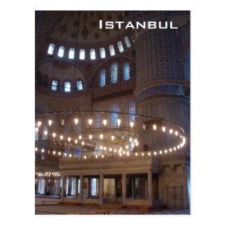 Mezquita azul postal
