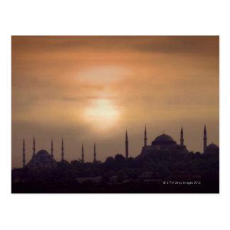 Mezquita azul y Hagia Sophia Turquía, Estambul Postal