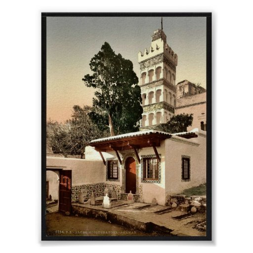 Mezquita de Abder-Rhaman, vintage P de Argel, Arge Posters