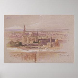 Mezquita de Agra, El Cairo, 1849 Póster