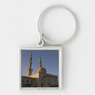 Mezquita de Hamza, Suez, Sinaí del sur, Egipto Llavero Cuadrado Plateado