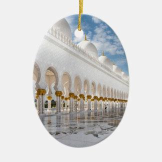 Mezquita de jeque Zayed Adorno Navideño Ovalado De Cerámica