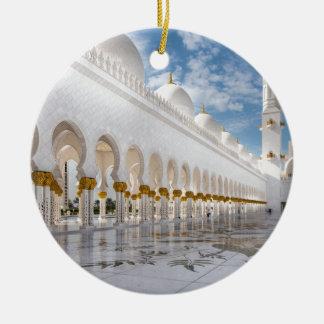 Mezquita de jeque Zayed Adorno Navideño Redondo De Cerámica