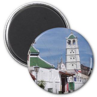 Mezquita de Kampung Hulu, Melaka, Malasia Imán Redondo 5 Cm